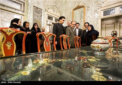 بازدید محمدعلی نجفی رئیس میراث فرهنگی از کاخ گلستان
