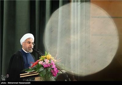 سخنرانی حجت الاسلام حسن روحانی رئیس جمهور در نوزدهمین جشنواره تحقیقاتی علوم پزشکی رازی