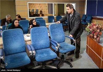 اتابک نادری رئیس مجموعه تئاتر شهر در مراسم تودیع و معارفه مدیرکل مرکز هنرهای نمایشی وزارت ارشاد