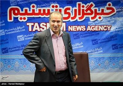 حضور مهدی تاج رئیس سازمان لیگ فوتبال در خبرگزاری تسنیم