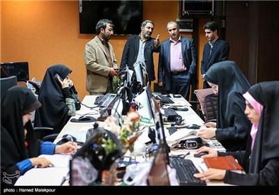 بازدید مهدی تاج رئیس سازمان لیگ فوتبال از تحریریه خبرگزاری تسنیم