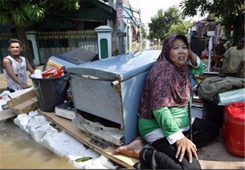 سیل اندونزی 13 کشته و 40 هزار آواره برجا گذاشت