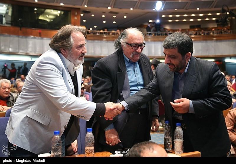 عزتالله ضرغامی، داریوش ارجمند و مجید مظفری در اختتامیه سومین دوره جشنواره جام جم