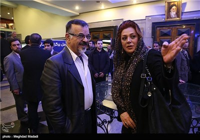 مهدی فخیم زاده و نسرین مقانلو در اختتامیه سومین دوره جشنواره جام جم