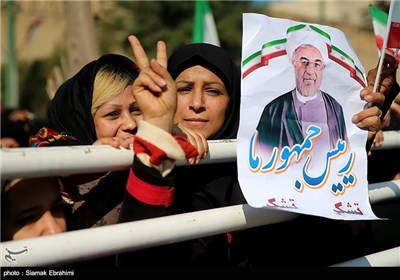 سخنرانی رئیس جمهور در جمع مردم خرمشهر