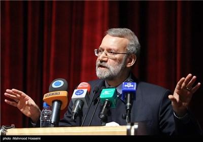 سخنرانی علی لاریجانی رئیس مجلس در مراسم تجلیل از نخبگان و قهرمانان ورزشی سپاه حضرت محمد رسولالله(ص) تهران بزرگ