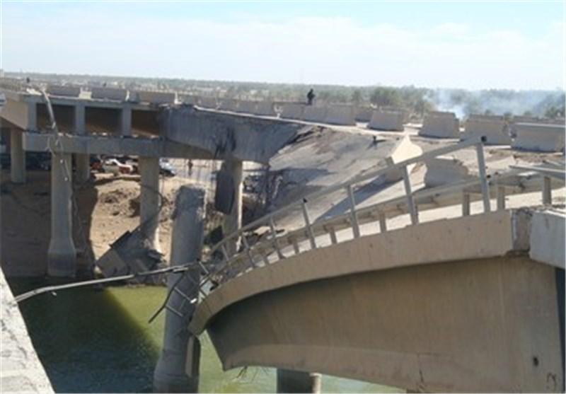تخریب پل استراتژیک الانبار-کربلا از سوی تروریست ها
