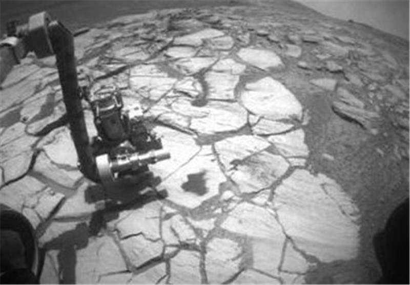 Mystery Rock in front of Mars Exploration Rover Baffles Scientists