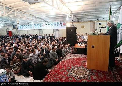 سخنرانی محمد رضا عارف عضو تشخیص مصلحت نظام در مراسم کلنگ زنی مجتمع فرهنگی شندآبادیهای مقیم تهران