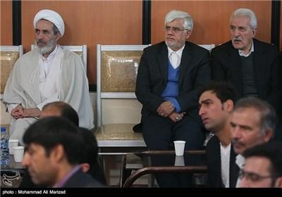 مراسم کلنگ زنی مجتمع فرهنگی شندآبادیهای مقیم تهران با حضور عارف