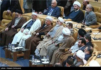 آیت الله هاشمی رفسنجانی رئیس مجمع تشخیص مصلحت در مراسم اختتامیه بیست و هفتمین کنفرانس وحدت اسلامی