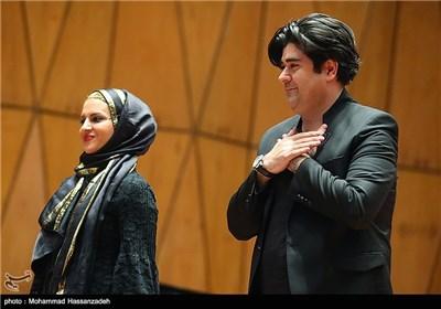 سالار عقیلی و همسرش در مراسم تودیع و معارفه مدیرکل دفتر موسیقی وزارت ارشاد