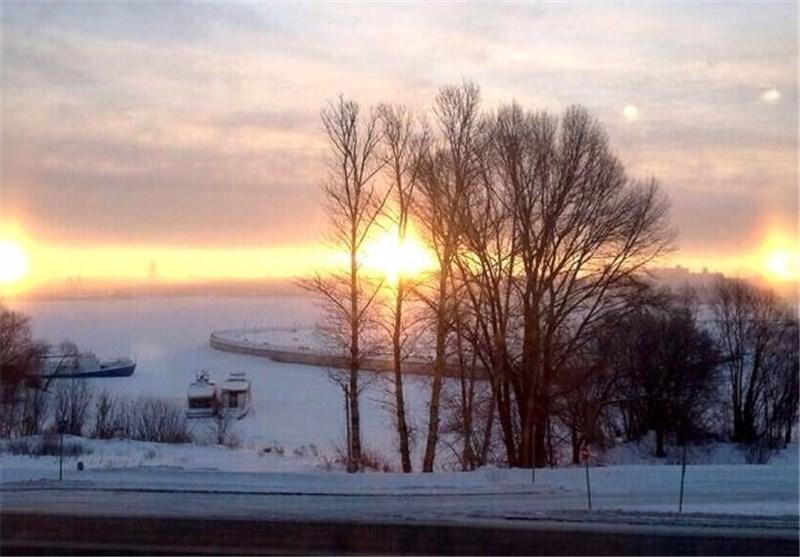 ظهور همزمان سه خورشید در آسمان + عکس