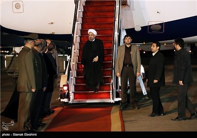 President Rouhani Arrives Back Home from Davos
