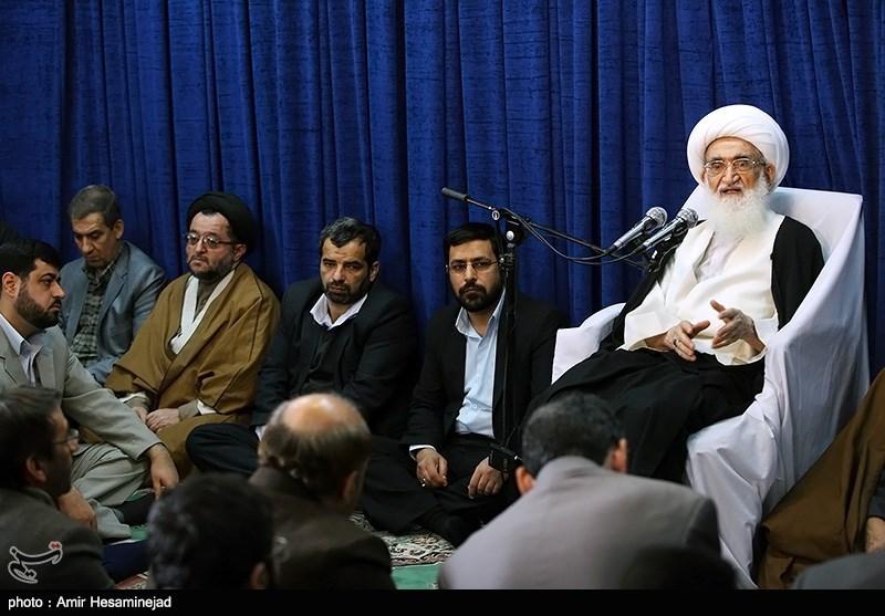 دیدار مدیر عامل ، مدیران ارشد و جمعی از خبرنگاران خبرگزاری تسنیم با آیت الله نوری همدانی