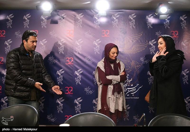 نیکی کریمی، یکتا ناصر و حامد بهداد در نشست خبری فیلم سینمایی زندگی جای دیگری است