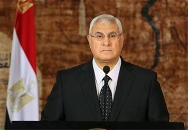 الرئیس المصری عدلی منصور: لا مصالحة مع الإخوان المسلمین
