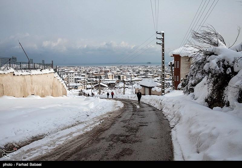 بارش برف در مازندران (تصاوير)
