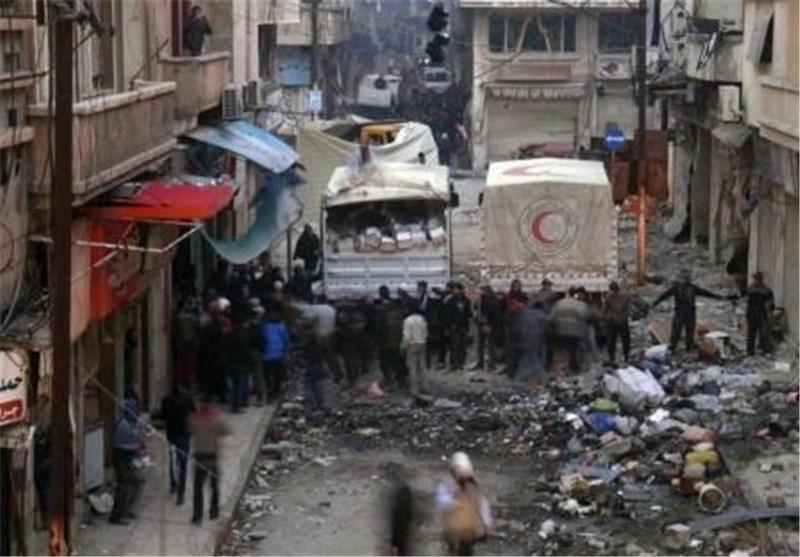 المسلحون فی سوریا یهاجمون قافلة اغاثة تابعة للامم المتحدة فی مدینة حمص القدیمة