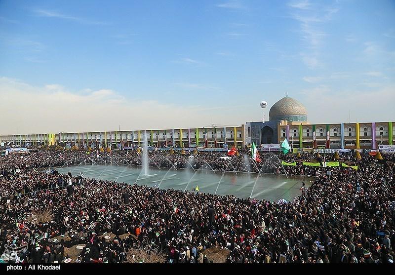 مسیرات 22 بهمن فی اصفهان
