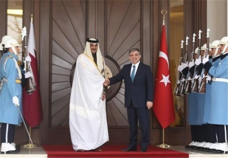أمیر دولة قطر فی أنقرة یبحث أزمة سوریا مع غول واردوغان