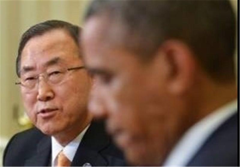 بلوغ صوت التظاهرة إلالکترونیة لشعب البحرین الی أوباما وبان کی مون