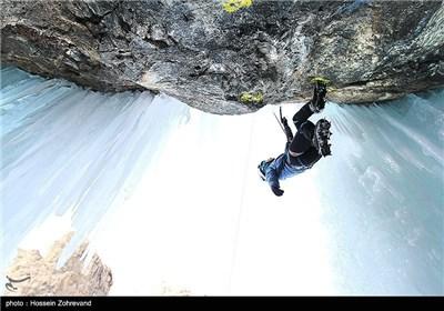 Ice-Climbing near Iranian Capital City