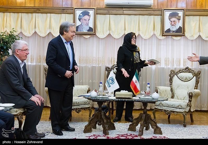 UN Refugee Chief Meets Iranian Interior Minister