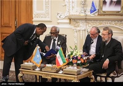 لاریجانی یستقبل روساء برلمانات سوریا و الصومال و الجزائر