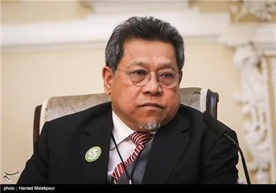لاریجانی یستقبل رئیس البرلمان المالزی و نائب رئیس البرلمان الکازاخی