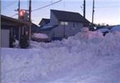 بارش برف شدید در ژاپن
