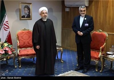 لقاءات رئیس الجمهوریة فی هامش مؤتمر برلمانات الدول الاسلامیة
