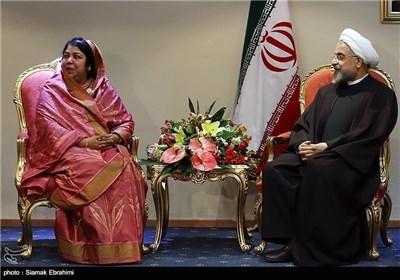 Muslim Speakers Hold Bilateral Meetings with Iran's President