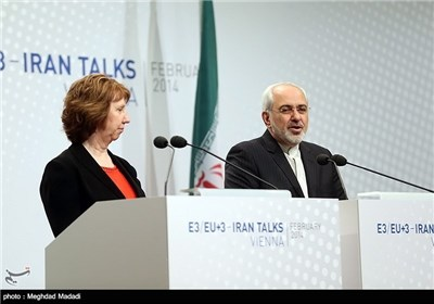 Photos: Zarif, Ashton Hold Joint Press Conference as Talks Wrap Up in Vienna