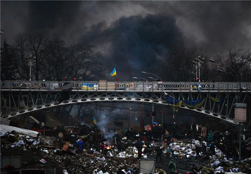 Russian Flag Flies over Occupied Parliament in Ukraine's Crimea