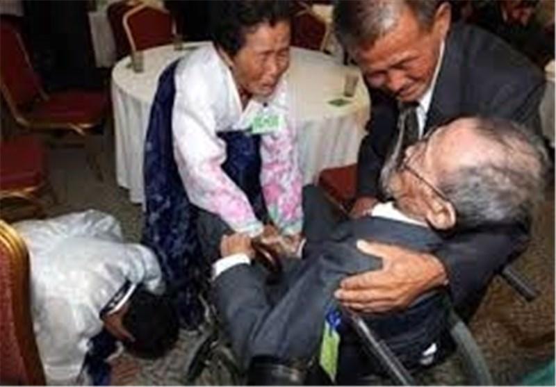 دموع 60 عاما من الفراق أغرقت فرحة لقاء کوریین فی منتجع جبل کومغانغ