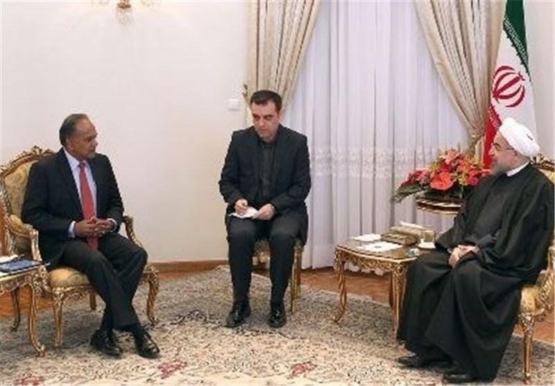 روحانی: حکومة التدبر والأمل عازمة علی تطویر العلاقات مع الدول الآسیویة