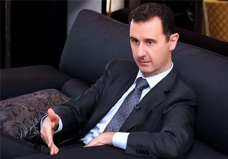 بشار اسد: غرب سعی دارد کشورهای مخالف خود را به وسیله تجزیه به زانو در آورد