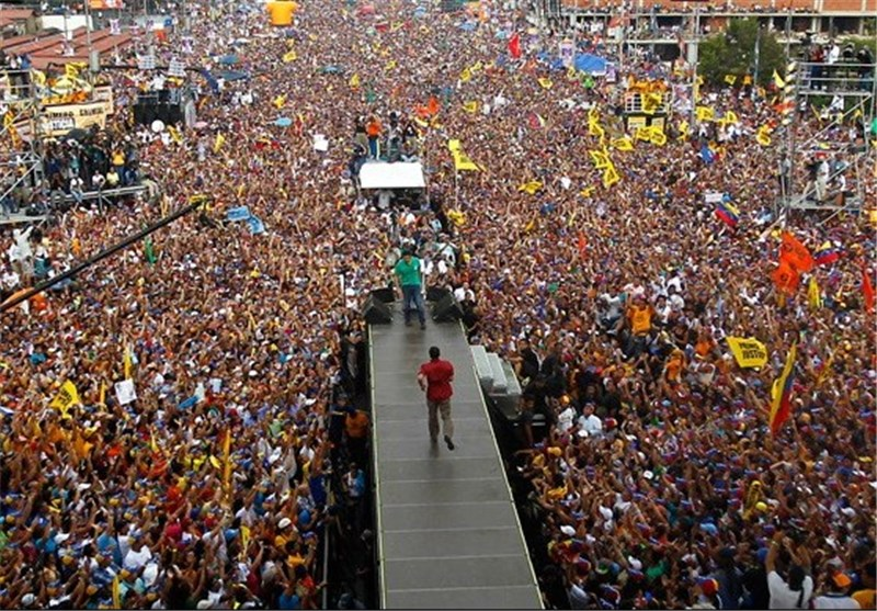 Large Pro-Government Rally Held in Venezuela