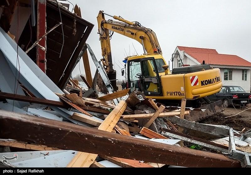 تخریب چهار واحد مسکونی به دلیل تغییر کاربری غیر قانونی در اراضی کشاورزی