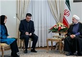 Iran's President Calls for Enhancement of All-Out Ties with EU