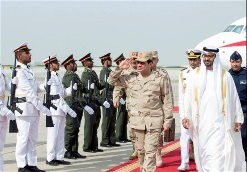 السیسی فی دولة الامارات لحضور مناورات مشترکة