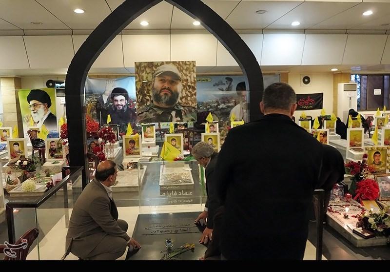 یادبود حاج قاسم سلیمانی در روضة الشهیدین لبنان+فیلم