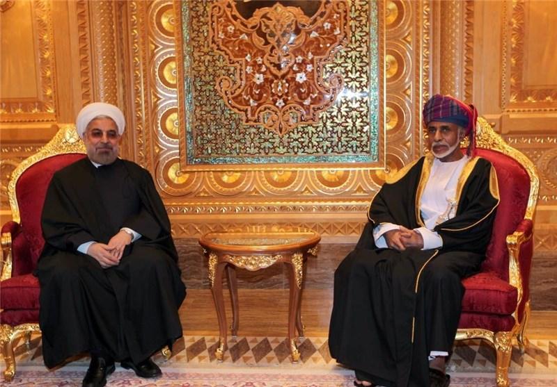 السلطان قابوس یبعث برقیة تهنئة للرئیس روحانی