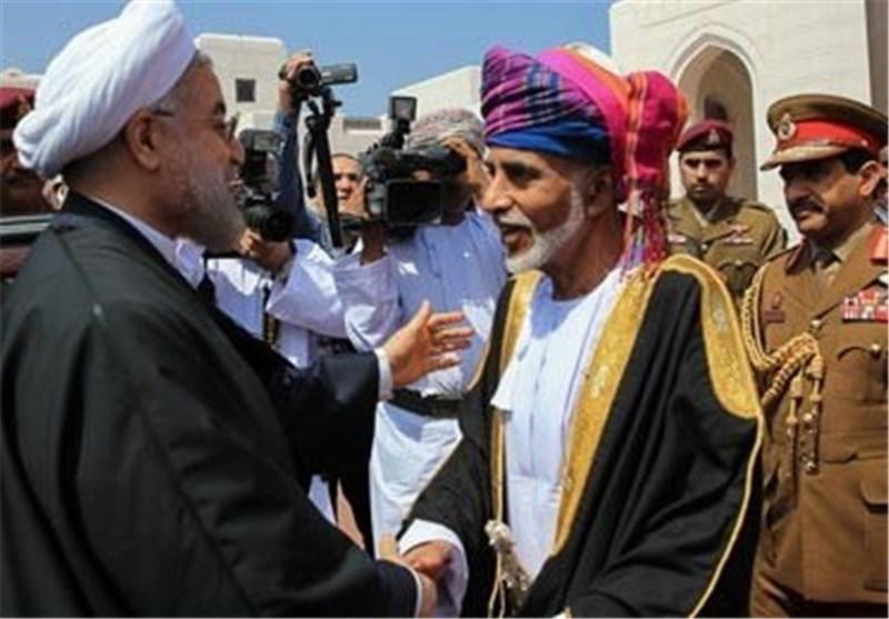 روحاني وسلطان عمان
