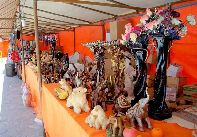 برپایی نمایشگاه صنایع دستی و سوغات محلی در سرایان