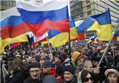 تظاهرات مردم خارکوف و دونتسک در حمایت از همه پرسی کریمه