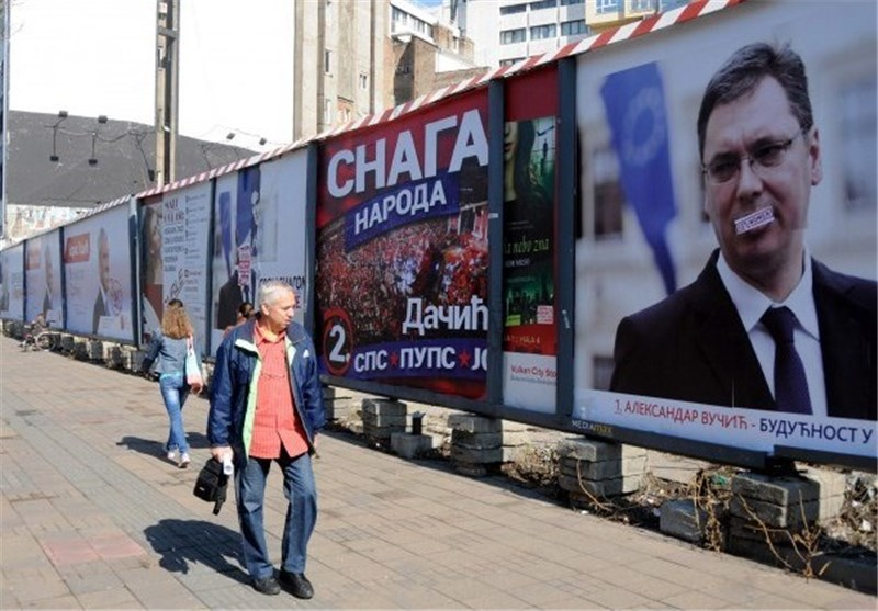 Serbia's Center-Right Claims Victory in Polls