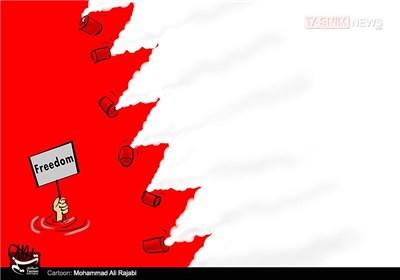 کاریکاتور/ بحرین و گاز اشک آور