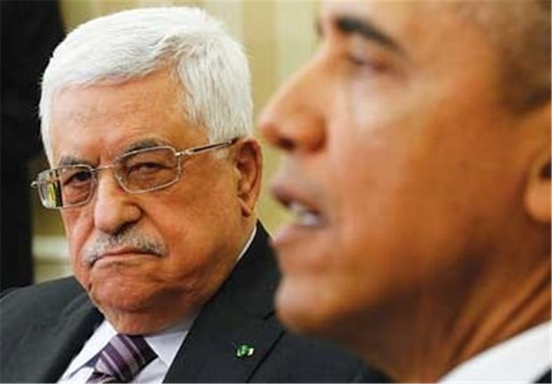 محمود عباس مع اوباما